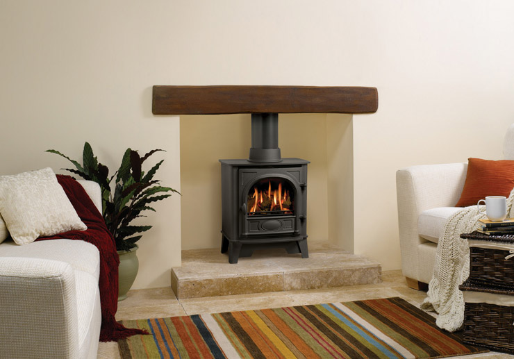 Gazco Stockton 5 Gas Stove balanced flue with log effect fire