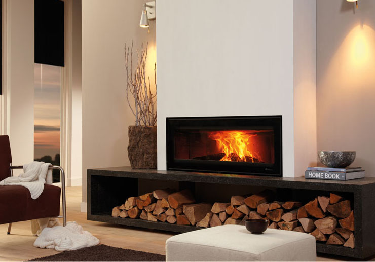 A showcase of our stoves focal point fireplaces Contemporary wood fireplace insert