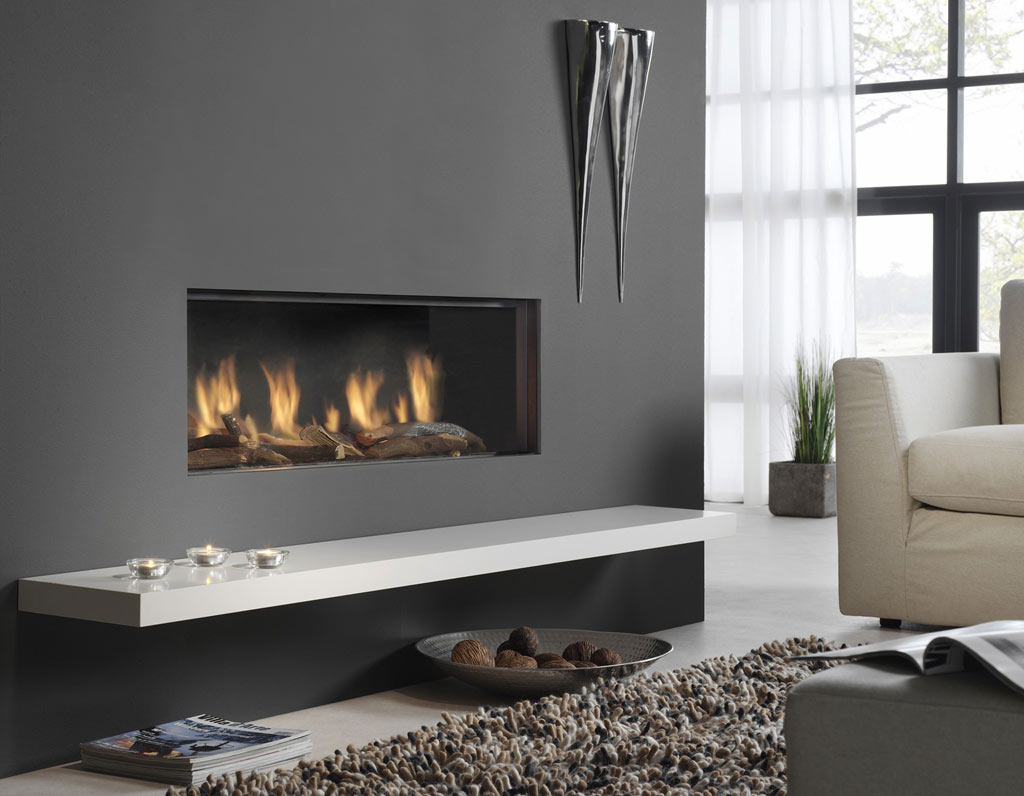 Global 100 Balanced Flue Black By Dru Focal Point Fireplaces